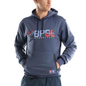 Bullpadel hoodie teller blue