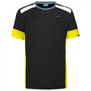 Head uni t-shirt zwart/geel