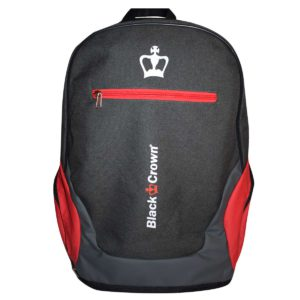 Black Crown bag pack grey/red