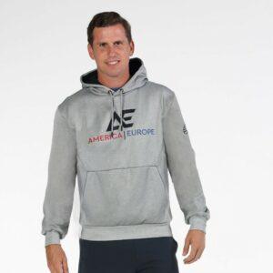 Bullpadel AE line hoodie grey
